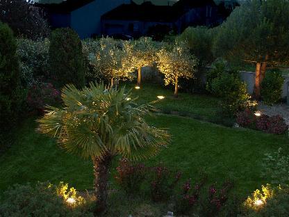 R alisation d un gazon et clairage for Eclairage d un jardin