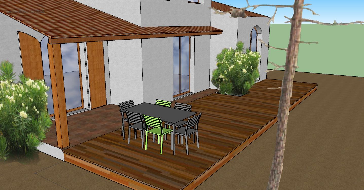 Terrasse bois à L'Aiguillon sur mer 85460