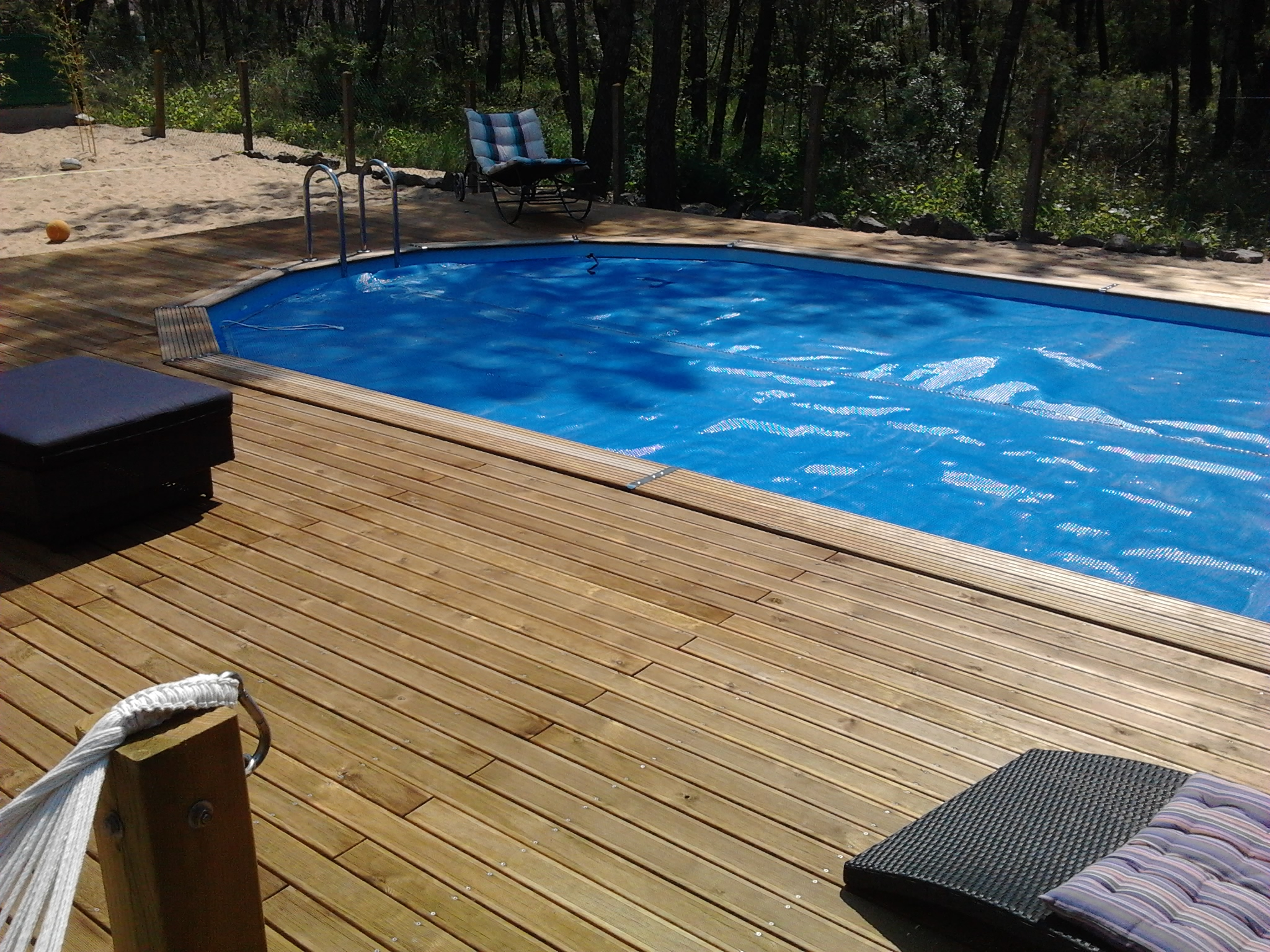 Piscine bois for Piscine coque 3x3